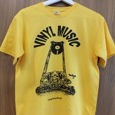 Koszulka T-shirt - vinylmusic (yellow)