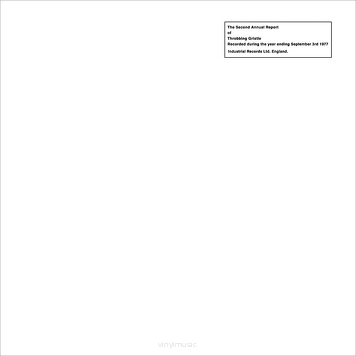 Throbbing Gristle ‎– The Second Annual Report
